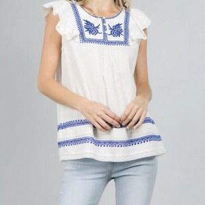 See And Be Seen Womens Ruffle Sleeve